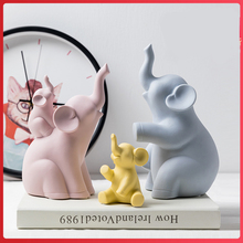 ceramic family four elephant statue home decor crafts room decoration ornament porcelain animal figurines wedding decorations