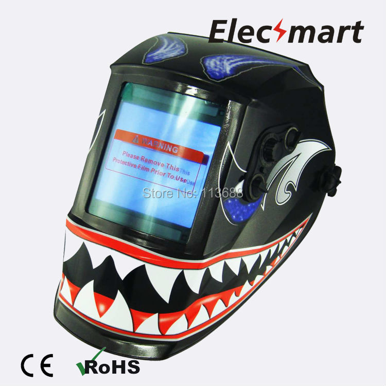 Big mouth monster Auto darkening welding helmet TIG MIG MMA electric welding mask/helmet/welder cap/lens for welding fire flames auto darkening solar powered welder stepless adjust mask skull lens for welding helmet tools machine free shipping