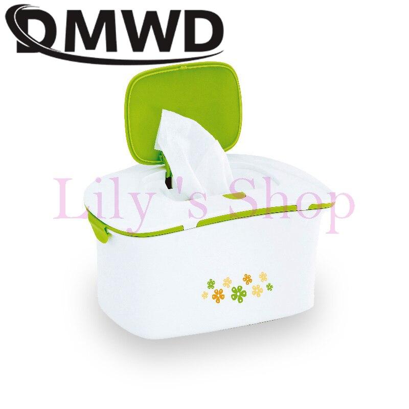 DMWD детские салфетки нагреватель термостат теплый диспенсер для влажных полотенец тканевый бумажный чехол Тепловая humidor салфетка нагревательная коробка EU US plug