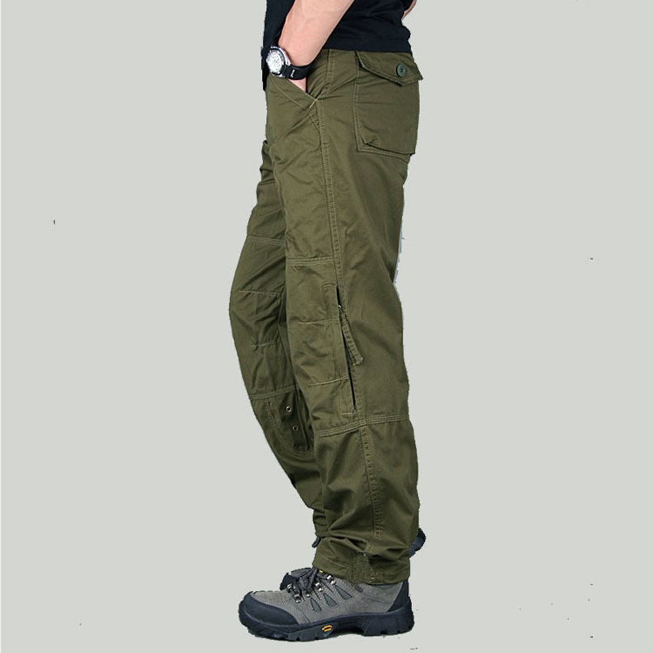 90% Cotton Cargo Work Pants Trousers for Men Tactical ...  90% Cotton Carg...