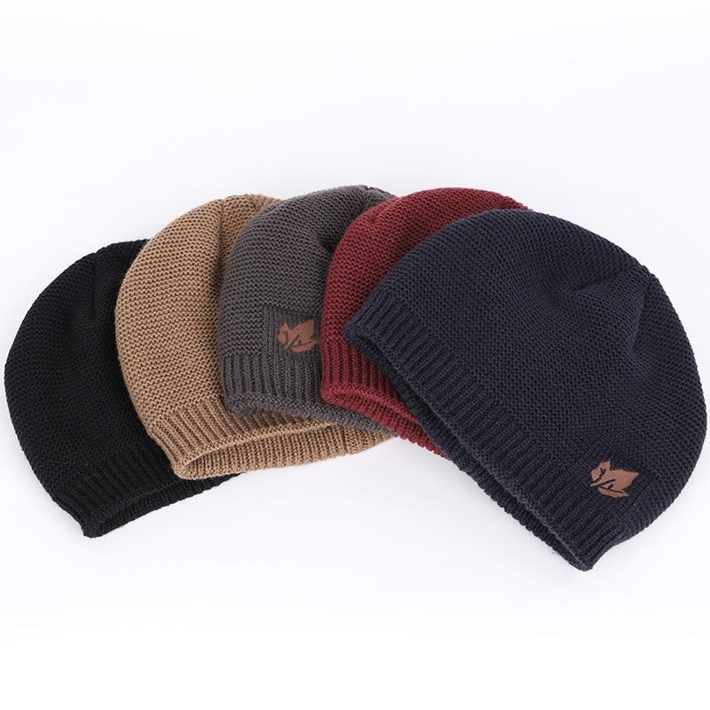 New winter knit hats men's and women's outdoor warm thickening plus velvet loose winter caps Skullies brand winter ski male bone 3