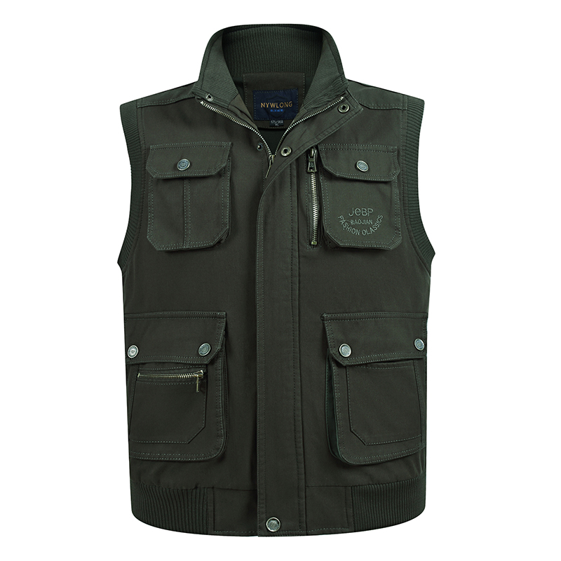 Multi Pocket Thin Baggy Vest For Men Spring Autumn Male Casual Photographer Gilet Sleeveless Jacket Summer Mens Travel Waistcoat