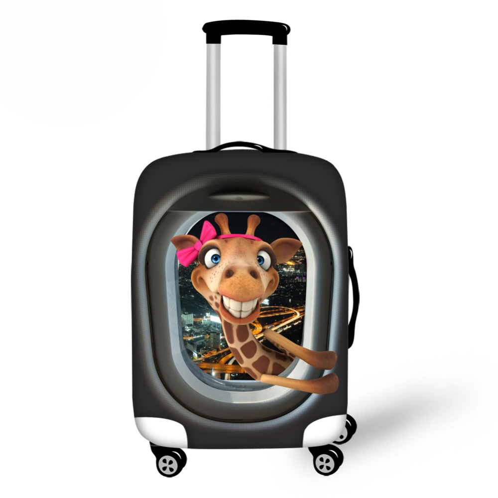 Frog Pattern Anti-Scratch Travel Luggage Cover Suitcase Protective Dust Cover Elastic Travel Luggage Cover For 18-28 Inch Cases