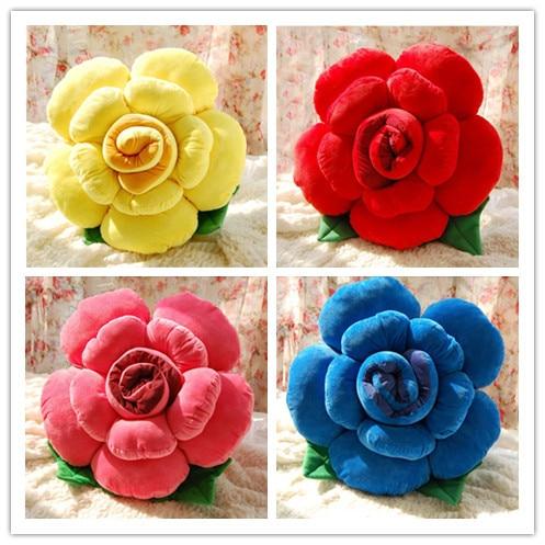40cm Decorative Pillow Pattern Flower Felt Flower Pattern DIY Throw Pillows  Home & Garden