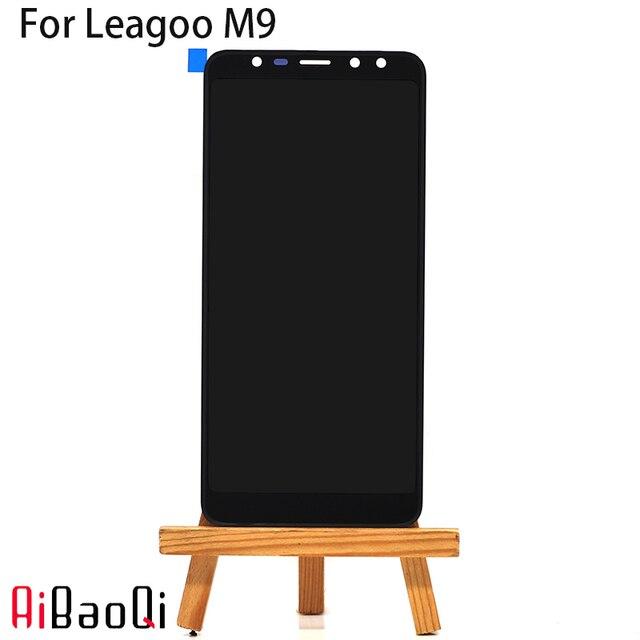 AiBaoQi חדש מקורי 5.5 אינץ מגע מסך + 1280X640 LCD תצוגת החלפת עצרת Leagoo M9 אנדרואיד 7.0 MT6580A טלפון