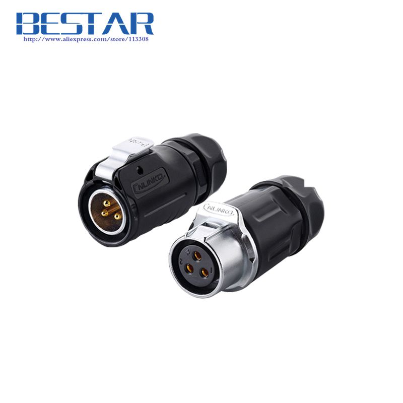 Cables Industrial waterproof Aviation Connector 2pin 3pin 4pin 5pin Plug socket, IP67, LED Power cable connector connecting/dock stage light led power cable plug neutrik type powercon nac3fca nac3fcb 3 pin professional audio power plug connector