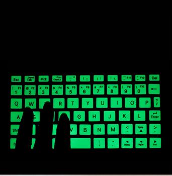 Moda świecące naklejki na GPD kieszeń GPD pocket2 kieszeń 2 kieszeń na laptopa podświetlenie komputera Luminous Bright naklejka na klawiaturę tanie i dobre opinie Kakay Klawiatury laptopa Zdjęcie Pyłoszczelna