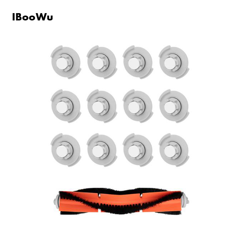 IBooWu 12pcs Filters 1pc Brush Replacement Parts For Millet Sweeping Robot XIAOMI Vacuum Cleaner Cleaning Tool Parts