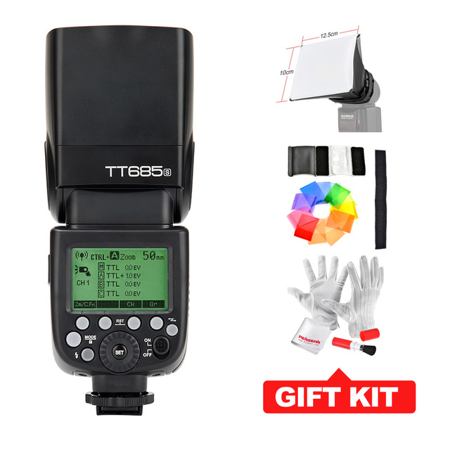 Godox tt685s gn60 ttl speedlite de destello de luz 230 de la potencia total auto/manual de zoom para sony dslr cámaras a77ii a7rii a7r a58 A99