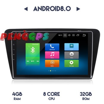 Android 8.0 7.1 Car Radio Stereo Headunit GPS for Skoda Octavia 2014 2015 2016 2017 Car DVD Player Audio Multimedia Satnav Auto image