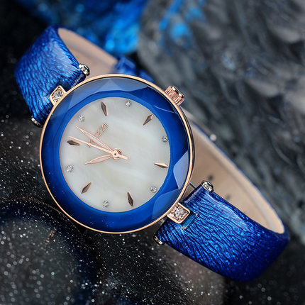 New Fashion Brand Genuine Leather Strap Women Dress Watches Quartz Watch Waterproof Clock Wristwatch k952 kingsky new fashion small women watches famous design quartz watch black pu leather strap wristwatch