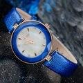 Nueva Marca de Moda de Cuero Genuino Correa Relojes Mujer Vestido Reloj de Cuarzo Resistente Al Agua Reloj de Pulsera k952