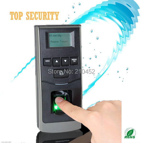 Free shipping fingerprint access control and time attendance black and white screen with free software optional RFID and MF card