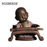 חול סגול בודהה פסל קרמיקה תה לחיות מחמד בית תפאורה לו הדמיונות של גברים של אותיות נזיר סיטונאי בית וגינה חרס גם ארוז