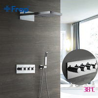 Frap Shower Faucet Wall Mounted Shower Sets Waterfall Wall Shower Mixer Tap Bath Rainfall Thermostatic Sink Sensor Faucets