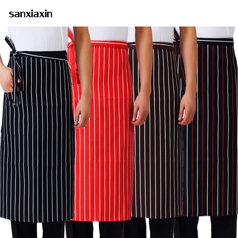 Wholesale Kitchen Cooking Aprons Work Dining Half-length Long Waist Apron Catering Chef Hotel Waiters Uniform Essential Supplies