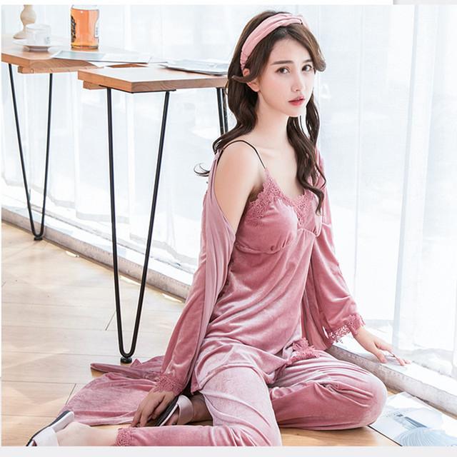 Sexy Lace Robe Pajamas Sleepwear Sleeveless  Nightwear