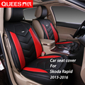 4 Colors Car Seat Cover Specifically tailored for Skoda Rapid (2013-2016) pu artificial leather Car Styling car accessories