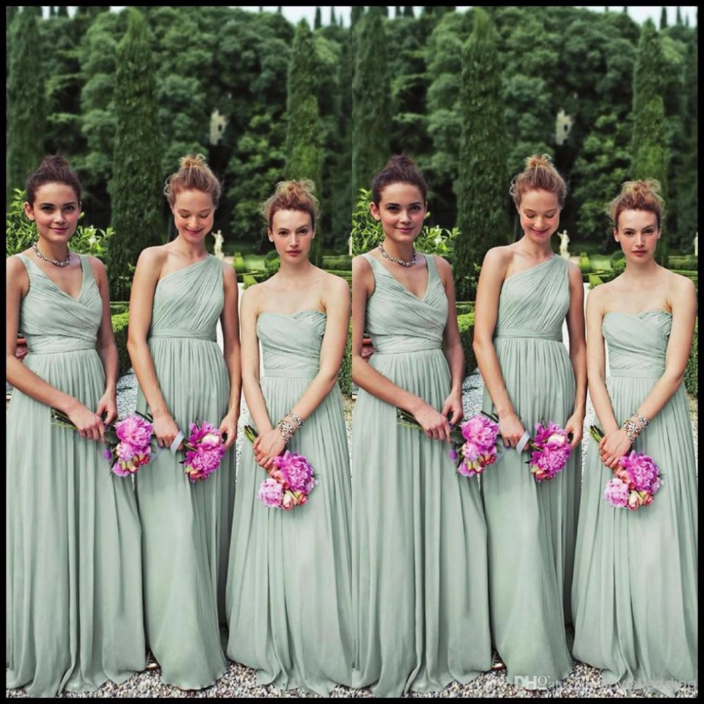 Chiffon bridesmaid dresses long floor length sage mint green chiffon bridesmaid dresses long floor length sage mint green bridal gowns in bridesmaid dresses from weddings events on aliexpress alibaba group ombrellifo Gallery
