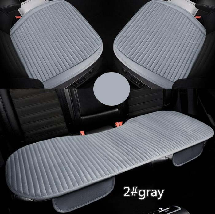 Car front/back Seat Covers Luxurious strip design Warm Winter Universal Fit SUV sedans Chair Pad Cushion mat antiskid Wh