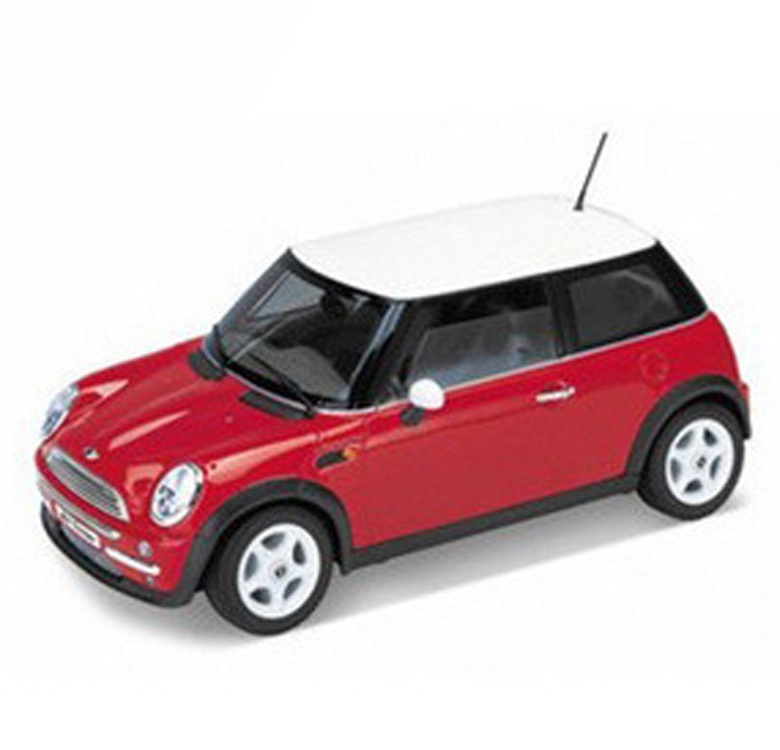 free shipping genuine welly wiley 124 mini cooper mini alloy car model red high simulation kids gifts hot sale
