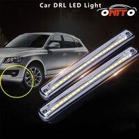 2 stücke Auto LED SMD DRL Drehen Signal Licht Gelb + Weiß farbe Lampe auto Tagfahrlicht front tageslicht