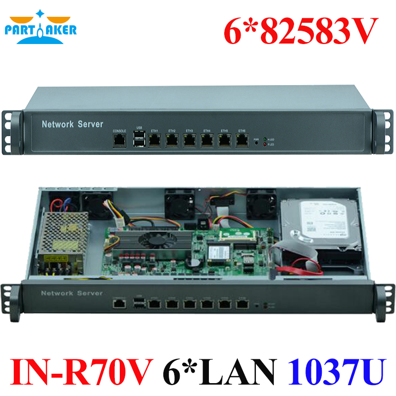 6 Gigabit Ethernet nic 82583v Network software routing 1U network server rack case supports 1037U CPU syed zahidur rashid ospf network routing