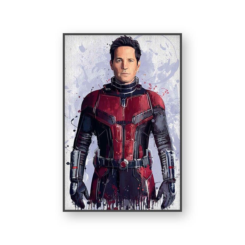 Настенный художественный холст с печатью постера, настенные картины для домашнего декора, Марвел, Мстители, фильм супергерой, Дэдпул, Железный Человек-паук, Локи - Цвет: L394B
