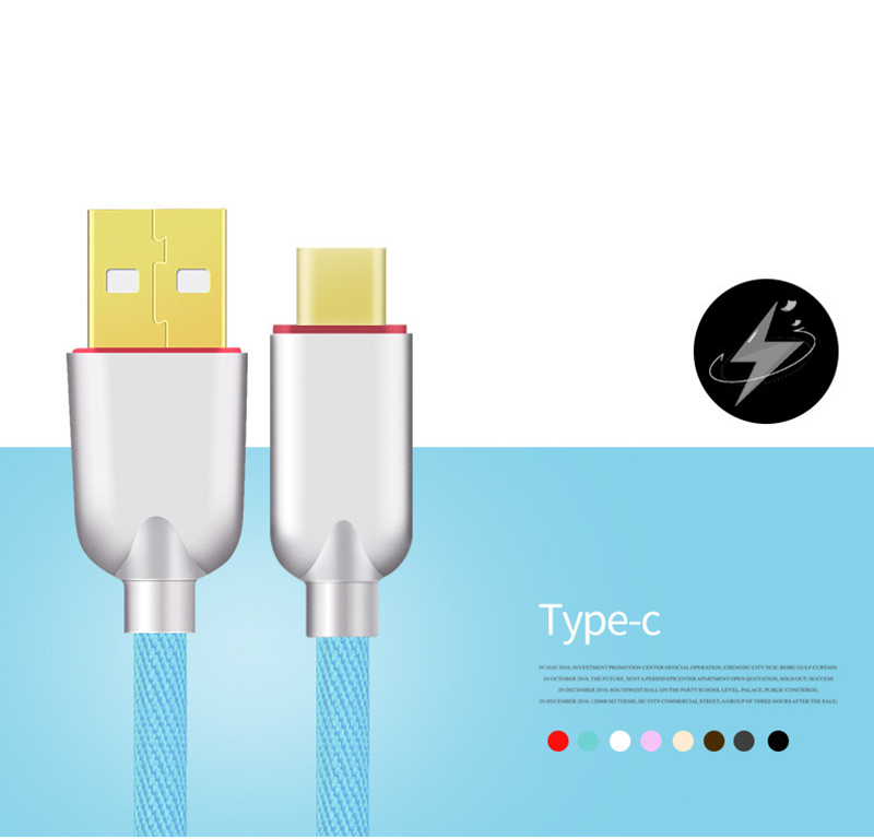 Thbelieve 5V 2A USBC Cables 1M Briaded Charge Cable For Huawei USB-C To USB Data Sync Charge Cords For Xiaomi USB Type C Line