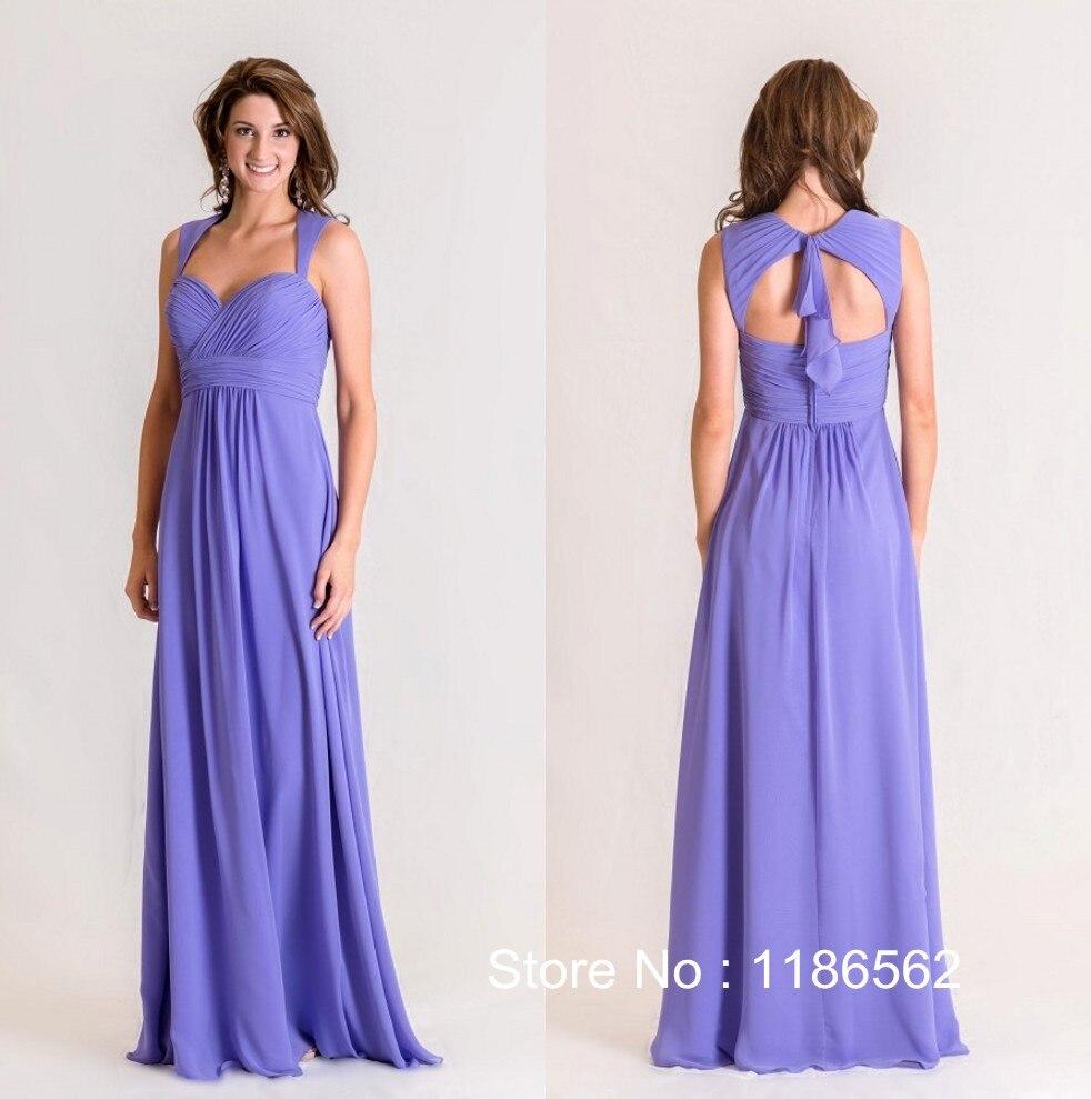 Atractivo Vestidos De Dama De Gasa Con Mangas Motivo - Vestido de ...