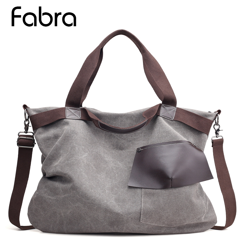 все цены на Fashion Big Women Canvas Bag Ladies Shoulder Bags Handbags Women Messenger Bags Large Captain Casual Tote Bags High Quality
