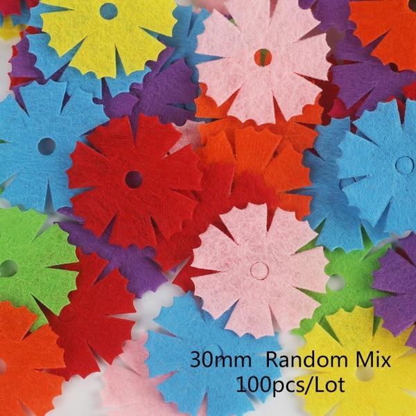 100 шт цветок/Сердце/Бабочка Нетканая фетровая ткань Войлок DIY Набор для шитья кукол скрапбук DIY ремесленные принадлежности - Цвет: Type 14
