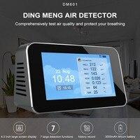 Formaldehyde Air Quality Detector USB Charging Temperature Meter TVOC Hygrometer English LCD Display Multi function Monitor