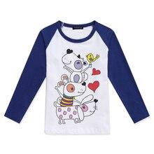 Brand Boys Cotton Tshirts Baby Boy Tee Shirt Funny Dogs Printed Tees Raglan Long Sleeve T Shirts Girl Tops Tee Children Clothing