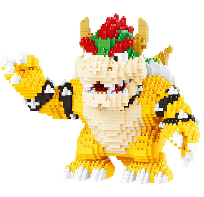 Image 3 - Game Super Marioing Bowser Turtle stitch Animal Monster 3D Model DIY Diamond Mini Building Blocks Bricks Toy 2300pcs-in Blocks from Toys & Hobbies