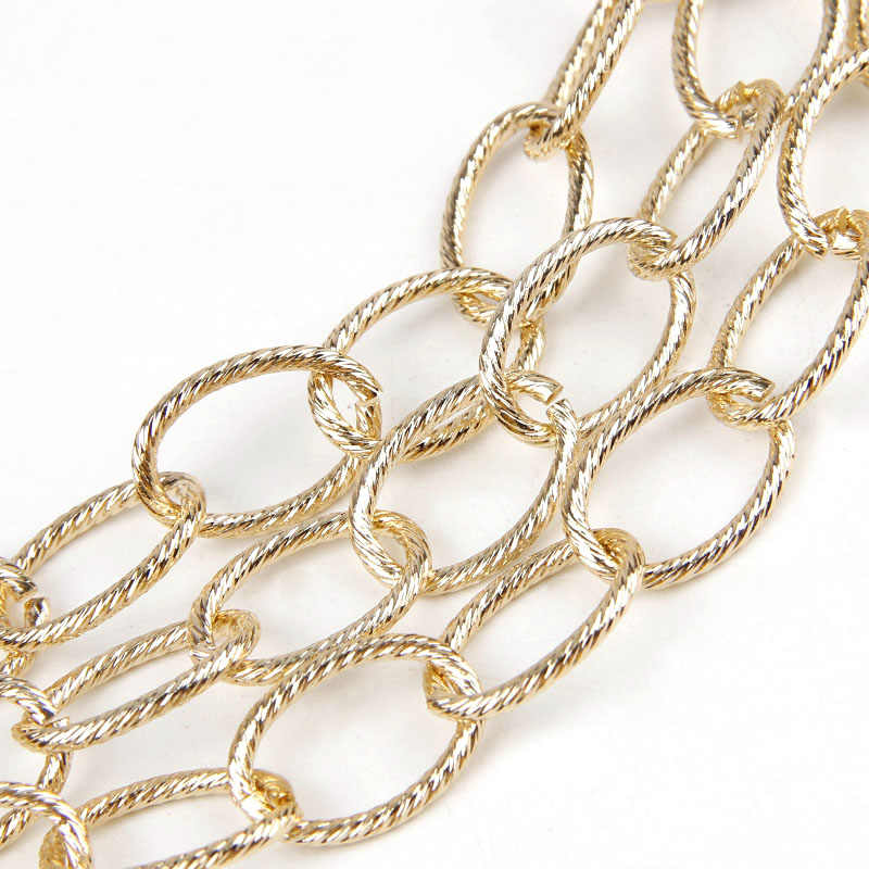 DIY Cable Open Link Metal Chain For Jewelry Making DIY Accessories