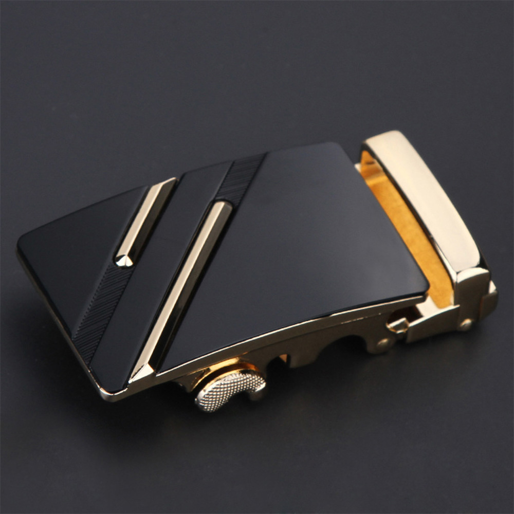 Fashion Men Automatic Leather Alloy Belt Buckle Head Casual Men's Pants Accessories Two-layer Cowhide Geometric Belt Buckle