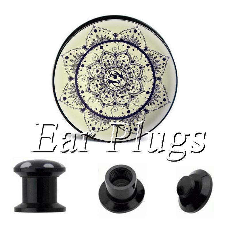 Wholesale Petal Eye plug gauges acrylic screw ear plug flesh tunnel piercing body jewelry