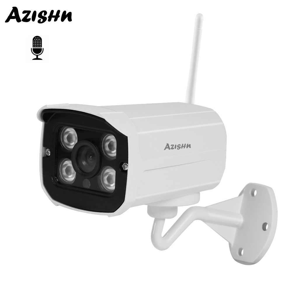 AZISHN WIFI IP Camera 1080P 960P 720P Wireless Wired Audio CCTV Bullet Outdoor Surveillance Cam With Miscro SD Card Slot YooseeAZISHN WIFI IP Camera 1080P 960P 720P Wireless Wired Audio CCTV Bullet Outdoor Surveillance Cam With Miscro SD Card Slot Yoosee