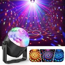 Commande vocale LED lampes de scène cristal boule magique Laser projecteur effet de scène lumière fête Disco lampe Club DJ lumière DMX