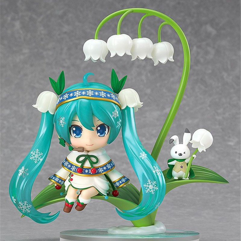 Anime Cute Hatsune Miku Anime Lotus leaves Hatsune Miku Collectible Action Figure Model PVC toys for christmas gift 20cm ore no imouto my little sister can t be this cute sexy mask collectible action figure pvc toys for christmas gift