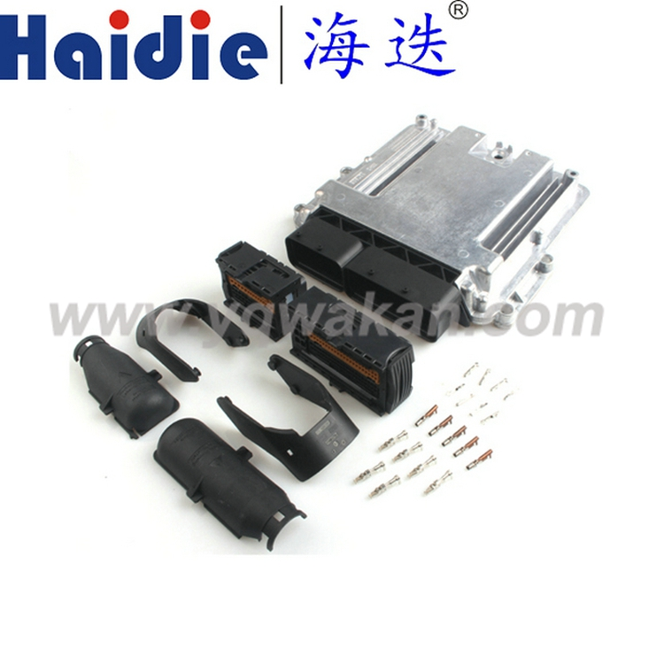 Free shipping 1set 154pin ECU Aluminum Enclosure Box and PCB male female ECU auto connector with terminals free shipping 121p ecu aluminum enclosure box with 121pin case motor car lpg cng conversion male female auto connector