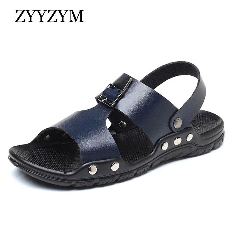ZYYZYM Men Sandals Summer Non-slip Ventilation Fashion Trend Casual Beach Men Shoes Large size