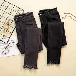 JUJULAND 2018 Джинсы женские джинсовые штаны черный цвет для женщин s женские джинсы стрейч низ Feminino узкие брюки для мотобрюки