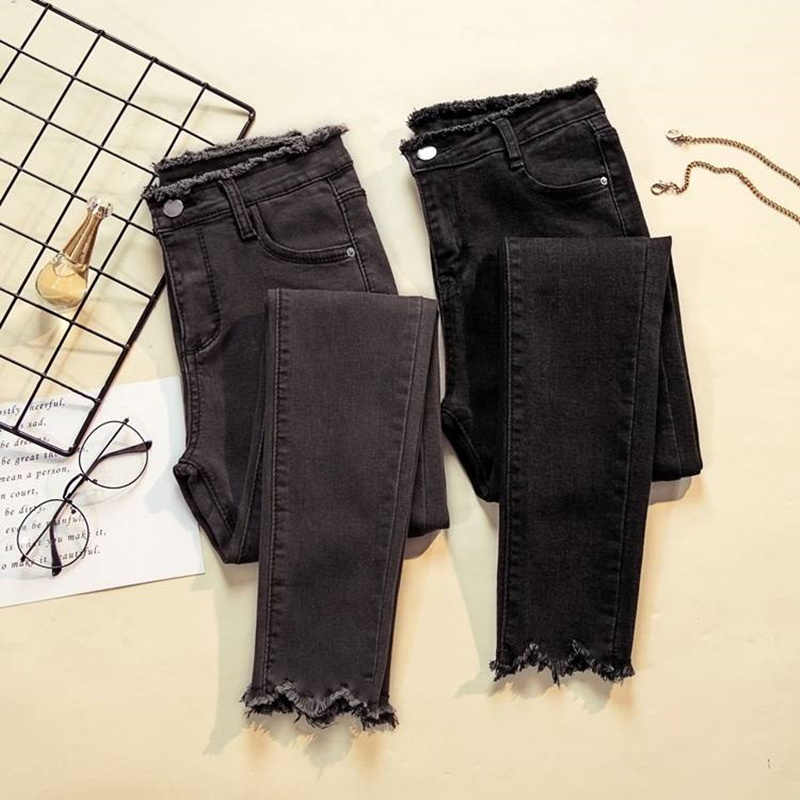Jujuland 2019 Jeans Mujer Pantalones De Mezclilla Color Negro Mujer Jeans Donna Estiramiento Pantalones Femeninos Pantalones Ajustados Para Mujer Pantalones Pantalones Vaqueros Aliexpress