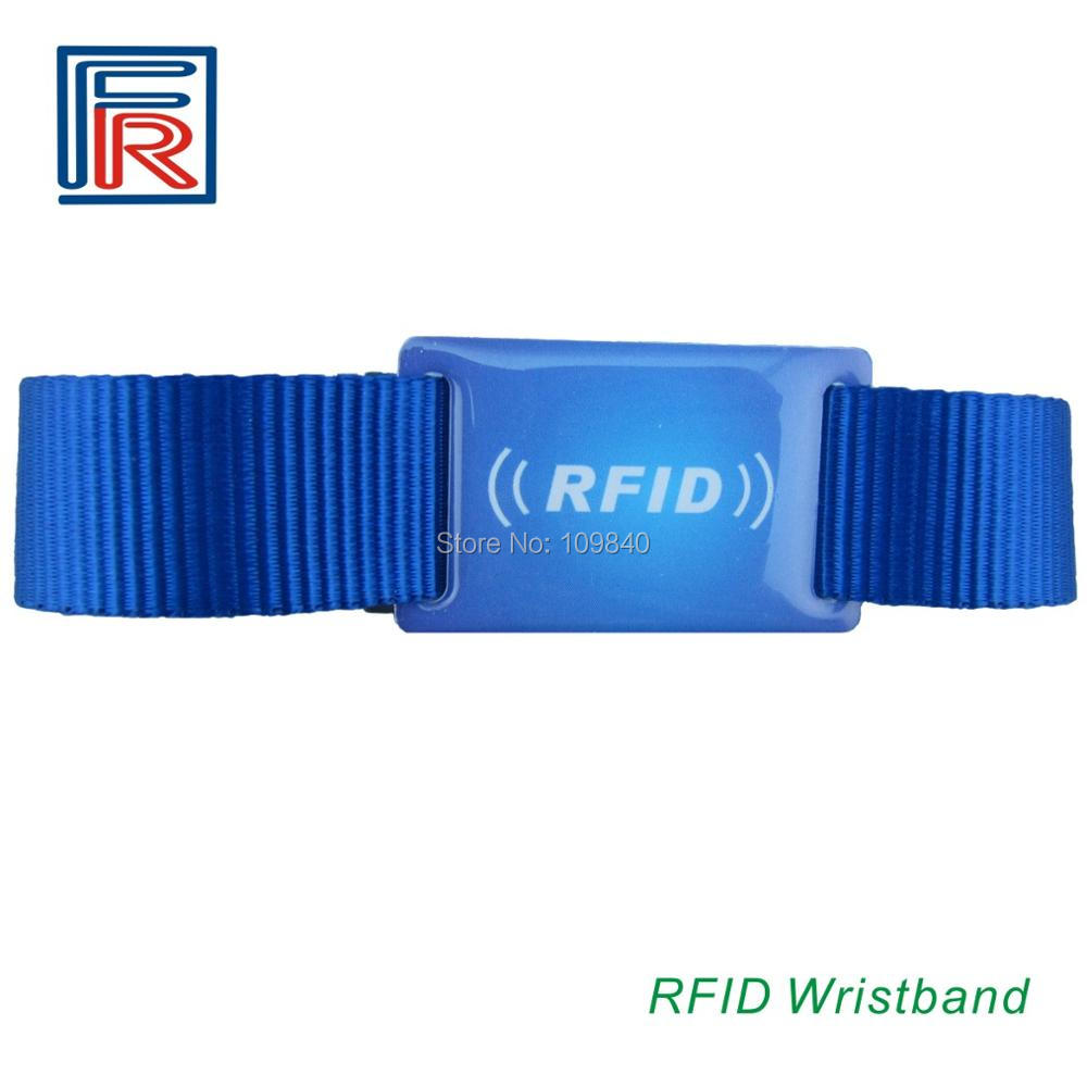 Customer printing Woven/nylon/fabric bracelet festival ISO14443A NFC NTAG203 chip 13.56MHz adjustable RFID wristband customized printing cashless payment iso14443a 13 56mhz ultralight fabric rfid woven bracelet wristband for festival events