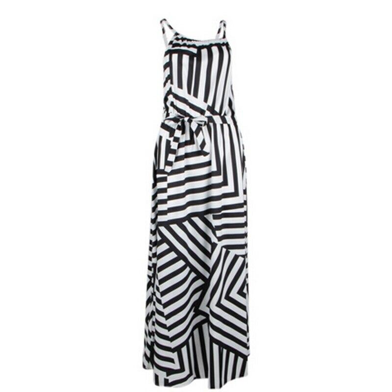Summer Maxi Long Dress New Fashion Women Sexy Boho Striped Sleeveless Beach Style Strap Sundress Vestidos For Female Bigsweety 3