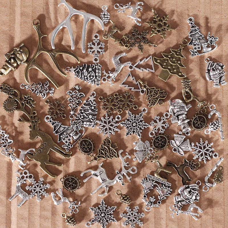 Урожай металла рождественские подвески для ювелирных