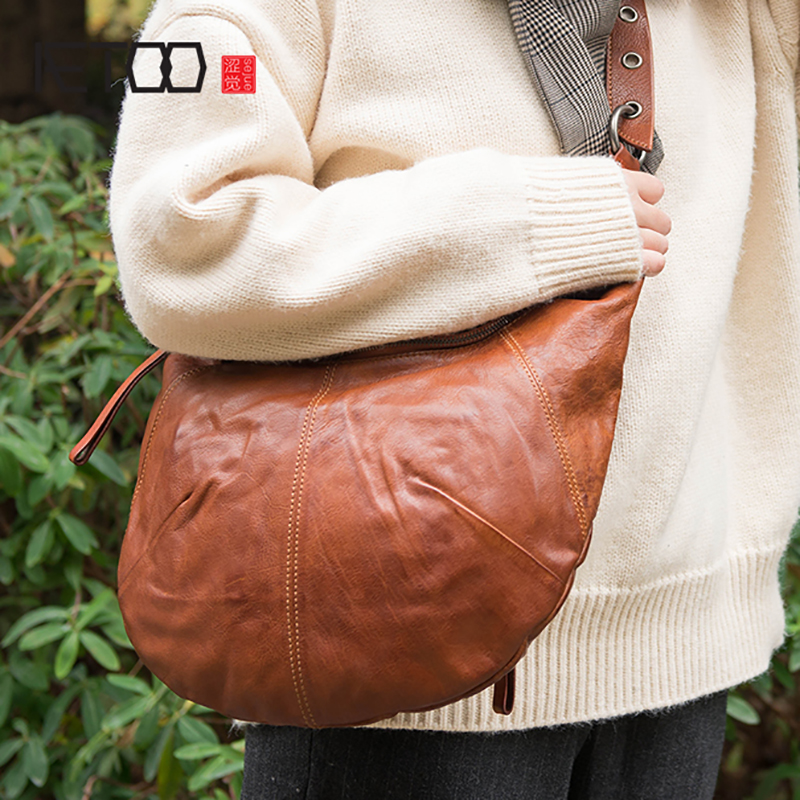 AETOO Portable single shoulder Bag Crescent bag Classic soft leather trendy handbagAETOO Portable single shoulder Bag Crescent bag Classic soft leather trendy handbag