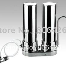 304 очиститель воды из нержавеющей стали/фильтр для водопроводной воды/очистка кухонной воды/раствор для питьевой воды с PP/UDF+ CTO/ufcartrige